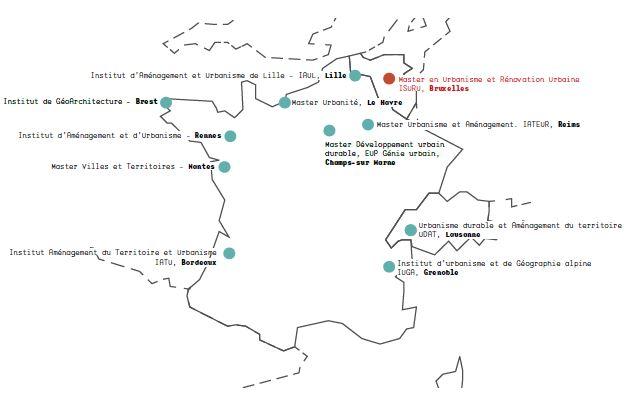 Composition des équipers édition 2020 du Challenge interuniversitaire d'aménagement et d'urbanisme